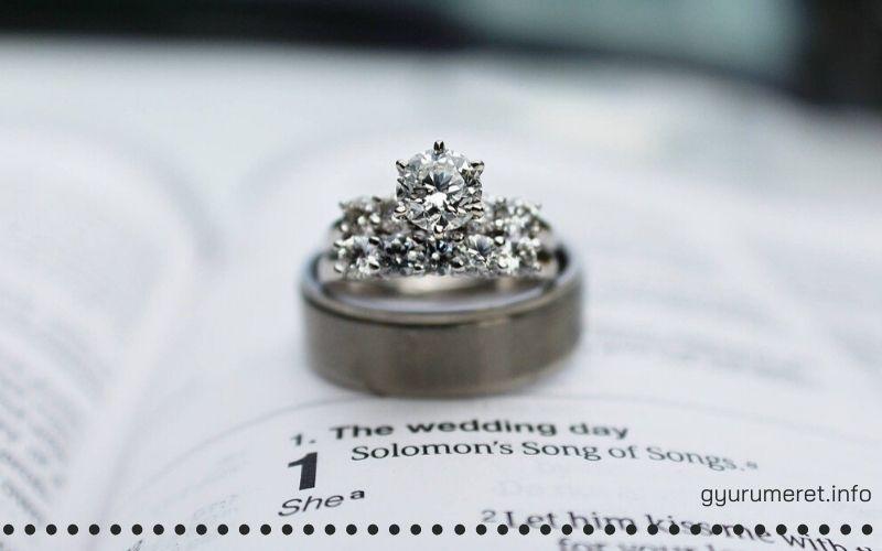Eljegyzési gyűrű gyémánt